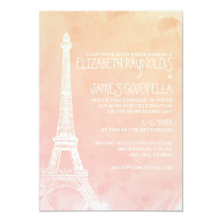 Antique Paris Wedding Invitations