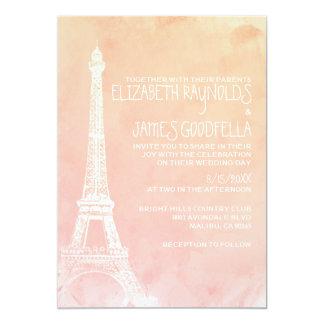 """Antique Paris Wedding Invitations 5"""" X 7"""" Invitation Card"""