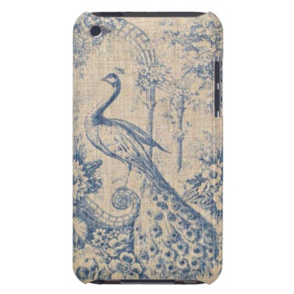 Antique Peacock Toile Barely There iPod Cover