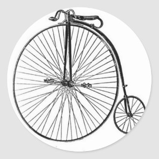 Antique Penny Farthing Bicycle Classic Round Sticker