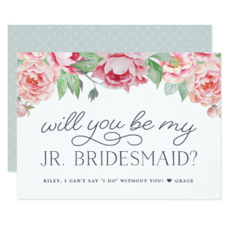 Antique Peony | Will You Be My Jr Bridesmaid Card