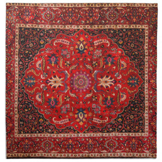 Antique Persian Mashhad Rug Napkin