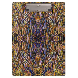 """Antique Persian Rug Look' Pattern Clip Board"