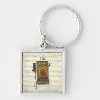 antique phone keychain