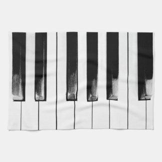 Antique Piano Keys Keyboard Tea Towel