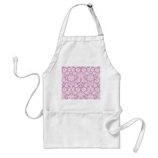 Antique pink damask pattern standard apron