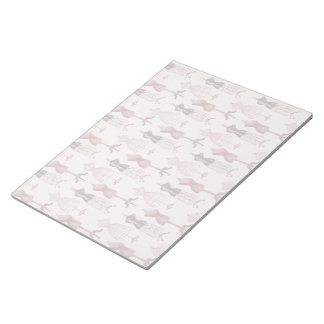 Antique Pink Dress Forms Notepad