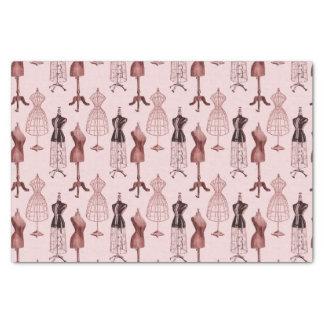 Antique Pink Dress Forms Tissue Paper