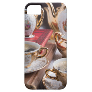 Antique porcelain coffee cups with coffee case for the iPhone 5