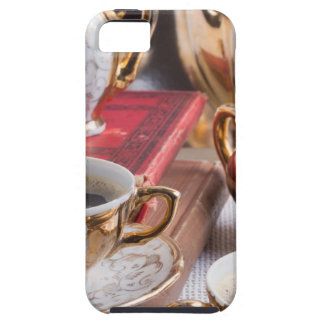 Antique porcelain coffee cups with coffee tough iPhone 5 case