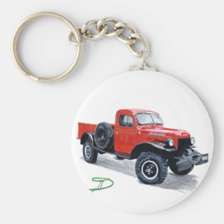 Antique Power Wagon Truck  Keychain