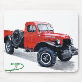 Antique Power Wagon Truck Mousepad