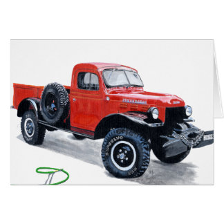 Antique Power Wagon Truck Notecard