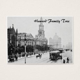 Antique print George St Sydney Australia c1898 Business Card