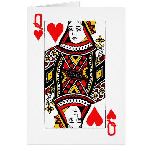 Antique Queen of Heart Greeting Cards