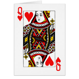 Antique Queen of Heart Greeting Card