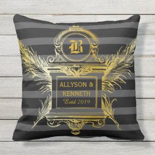 Black Gold Baroque Cushions Decorative Throw Cushions Zazzle Au