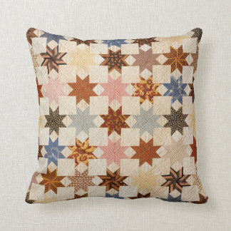 Antique Quilt Photograph | LeMoyne Star Pattern Cushion