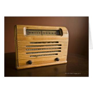 Antique Radio Card