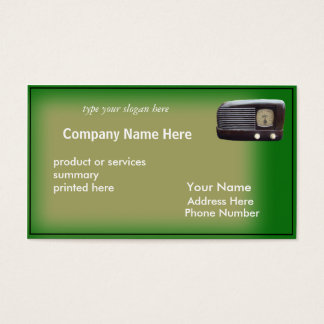 Antique Radio Card-customize Business Card
