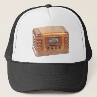 Antique radio trucker hat
