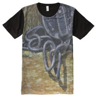 Antique Railroad Lock & Chain All-Over Print T-Shirt