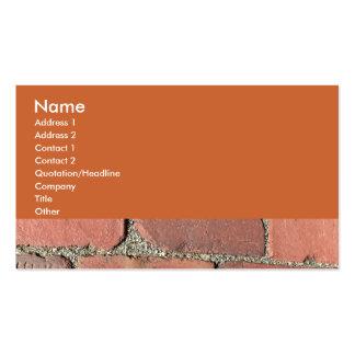 Antique Red Bricks Pack Of Standard Business Cards