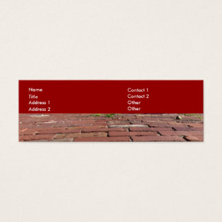Antique Red Bricks Mini Business Card