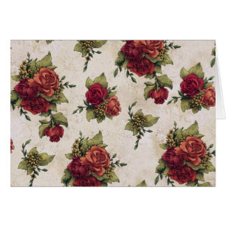 Antique Red Rose Wallpaper Card