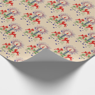 Antique Reindeer Christmas Wrapping Paper