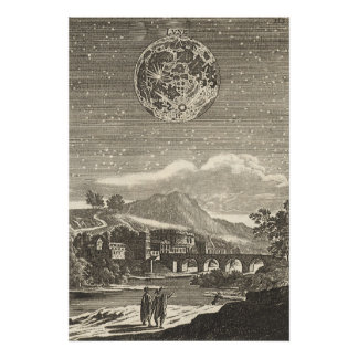 Antique Renaissance Moon by Allain Mallet Poster