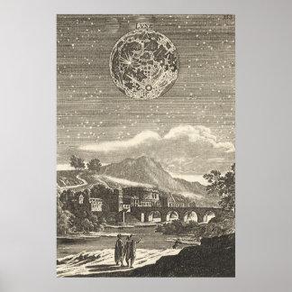 Antique Renaissance Moon by Allain Mallet Poster