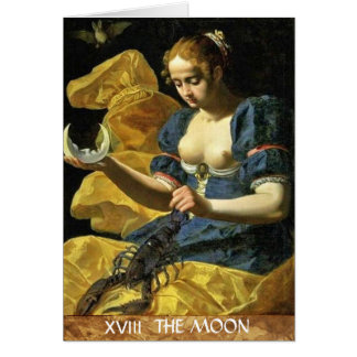 ANTIQUE RENAISSANCE TAROTS 18 / THE MOON CARD