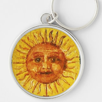 ANTIQUE RENAISSANCE TAROTS 19 /THE SUN KEY RING