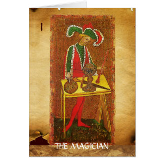 ANTIQUE RENAISSANCE TAROTS 1 / THE MAGICIAN CARD
