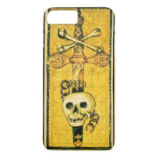 ANTIQUE RENAISSANCE TAROTS,ACE OF SWORDS Yellow iPhone 8 Plus/7 Plus Case