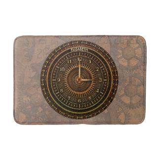 Antique Retro Steampunk Rusty Art Deco Clock Bath Mat