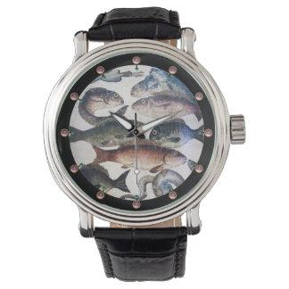ANTIQUE ROMAN MOSAICS,FISHES,OCEAN SEA LIFE SCENE WATCH