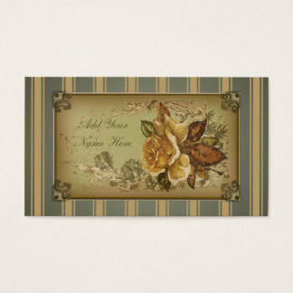 Antique Rose (green) Business Card