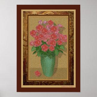 Antique Roses Print
