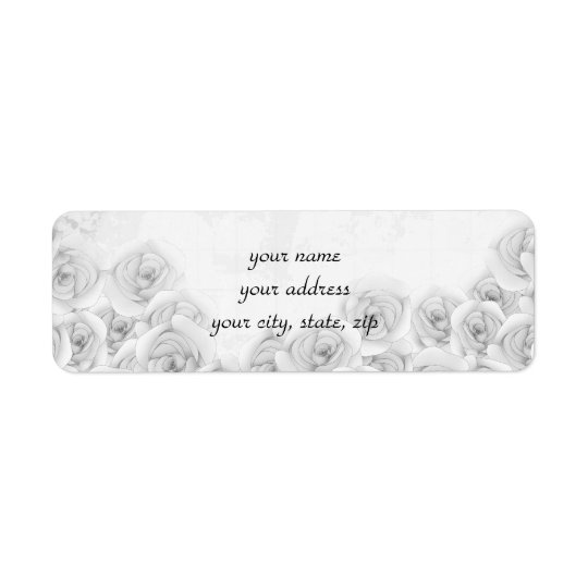 Antique roses return address labels for your text