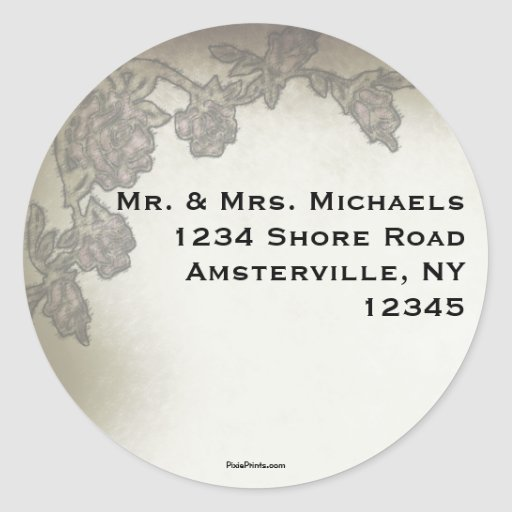 Antique Roses Return Address Sticker