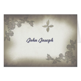 Antique Roses Thank You Photo Notecard