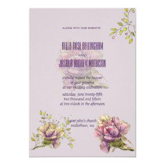 Antique Roses Wedding Invitation