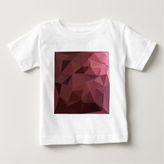 Antique Ruby Abstract Low Polygon Background Baby T-Shirt