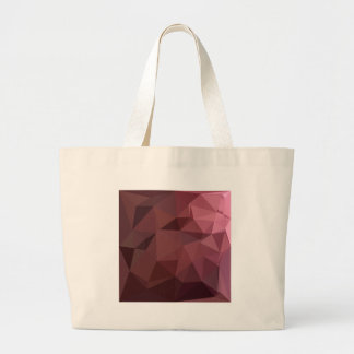 Antique Ruby Abstract Low Polygon Background Large Tote Bag