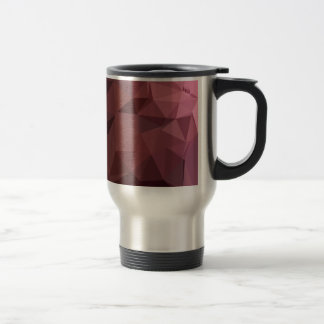 Antique Ruby Abstract Low Polygon Background Travel Mug