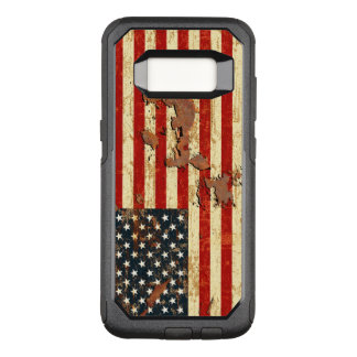 Antique Rusted American Flag USA OtterBox Commuter Samsung Galaxy S8 Case