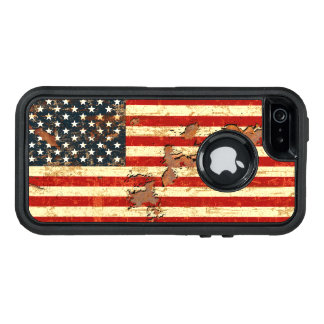 Antique Rusted American Flag USA OtterBox iPhone 5/5s/SE Case