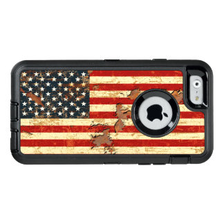 Antique Rusted American Flag USA OtterBox iPhone 6/6s Case
